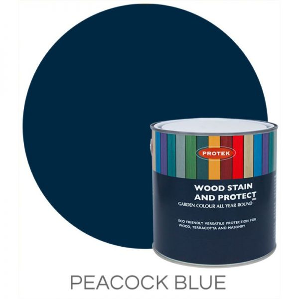 Protek Wood Stain & Protector - Peacock Blue 25 Litre