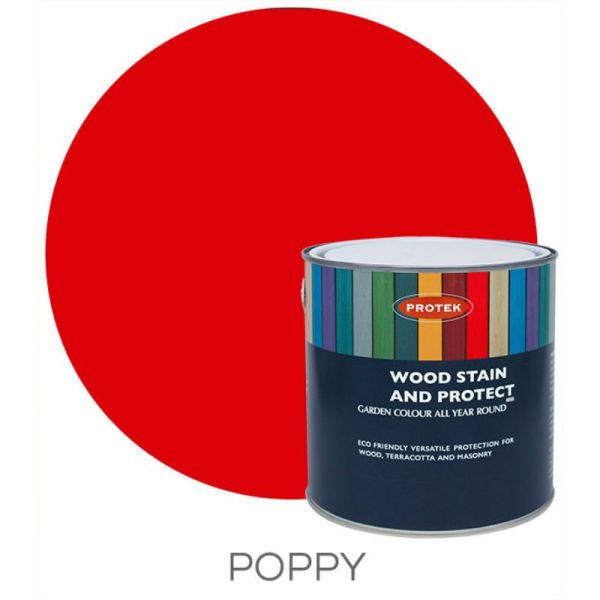Protek Wood Stain & Protector - Poppy 1 Litre