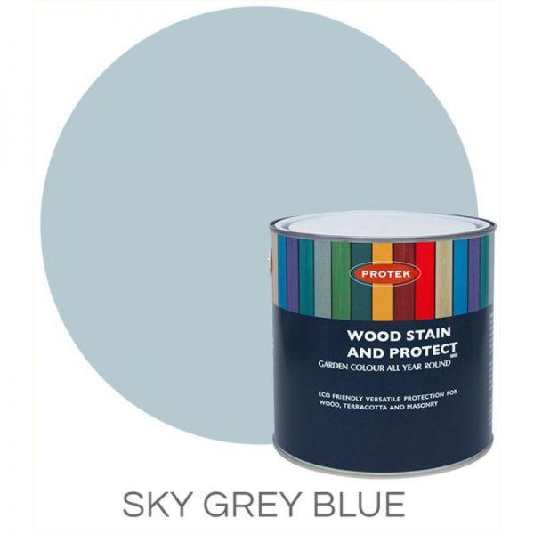 Protek Wood Stain & Protector - Sky Grey Blue 1 Litre