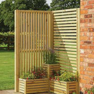 Rowlinson Garden Creations Horizontal Slat Screen - 4 Pack