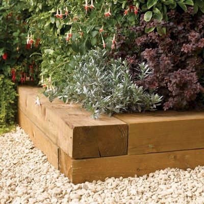 Rowlinson Timber Blocks 0.9m - 2 Pack