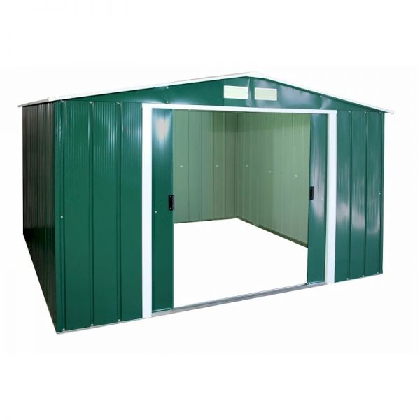 Sapphire Apex 10x10 Green Metal shed