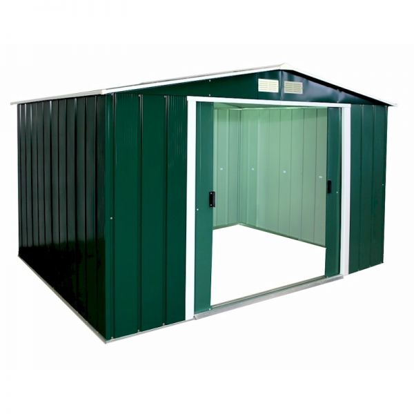 Sapphire Apex 10x8 Green Metal shed