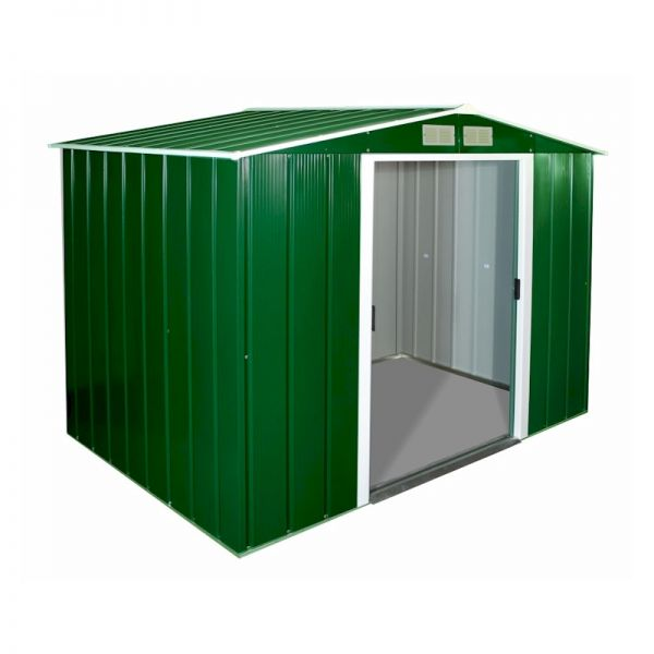 Sapphire Apex 8x6 Green Metal shed