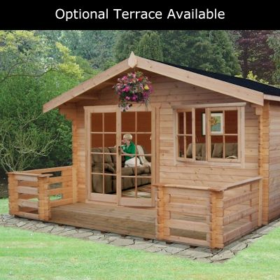 Shire Abbeyford 28mm Log Cabin 12x16