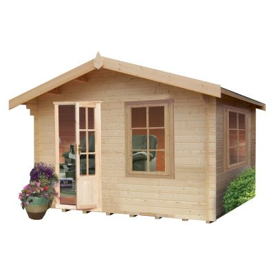 Shire Bucknells 28mm Log Cabin 10x8