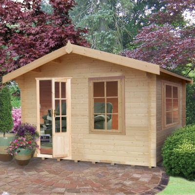 Shire Bucknells 28mm Log Cabin 12x8