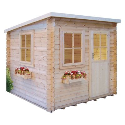 Shire Dean 28mm Log Cabin 8x8