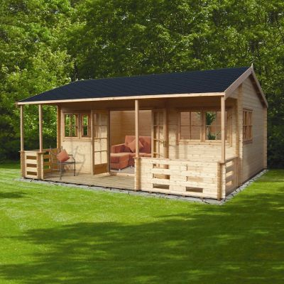 Shire Kingswood 44mm Log Cabin 18x20