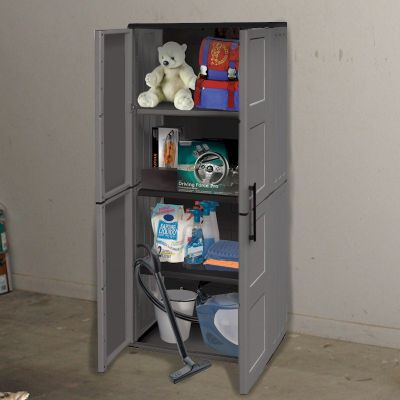 Shire Large Cupboard with Shelves Plastic Store
