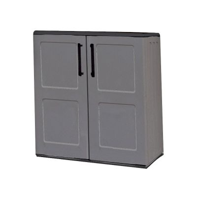 Shire Plastic Mid Storage Cupboard with Shelves