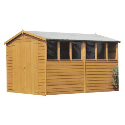 Shire Overlap Garden Shed 10x8 with Double Doors