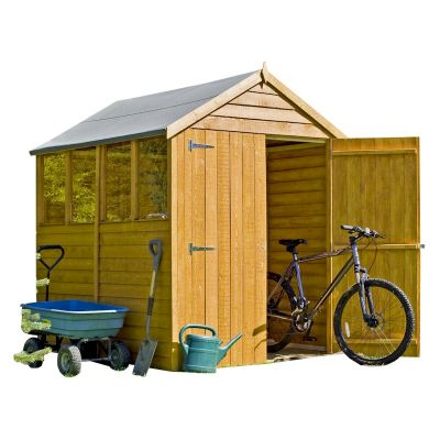 shire overlap garden shed 7x5 with double doors
