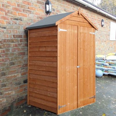 Shire Overlap Windowless Shed 4x3 with Double Doors