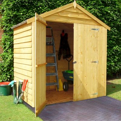 Shire overlap windowless shed 4x6 with double doors one for Garden shed 4x6