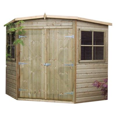 Shire Pressure Treated Corner Shed 7x7