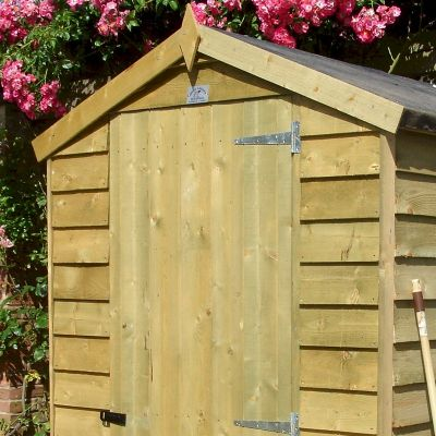 shire pressure treated overlap garden shed 6x4
