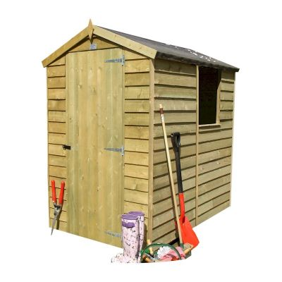 Garden Sheds 6x4 shire pressure treated overlap garden shed 6x4 - one garden