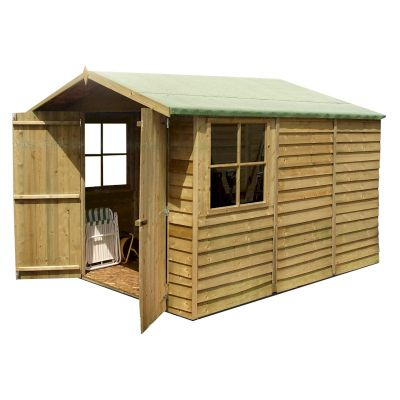 Shire Pressure Treated Overlap Shed 10x7 with Double Doors
