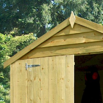 Shire Pressure Treated Overlap Shed 8x6 with Double Doors