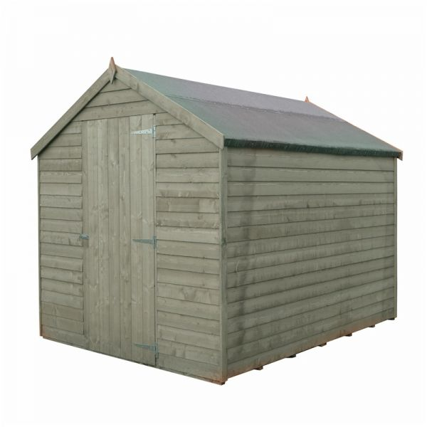 Shire Pressure Treated Value Overlap Apex Shed 8x6