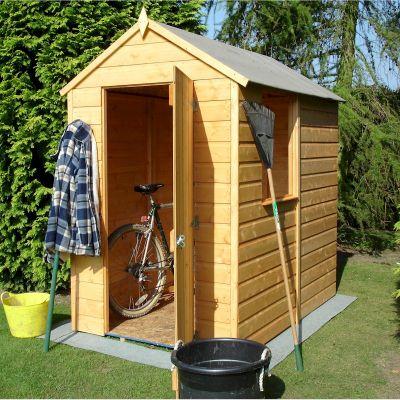Shire shetland apex shed 6x4 one garden for Garden shed 6x4