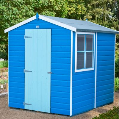 shire shiplap apex shed 7x5 one garden