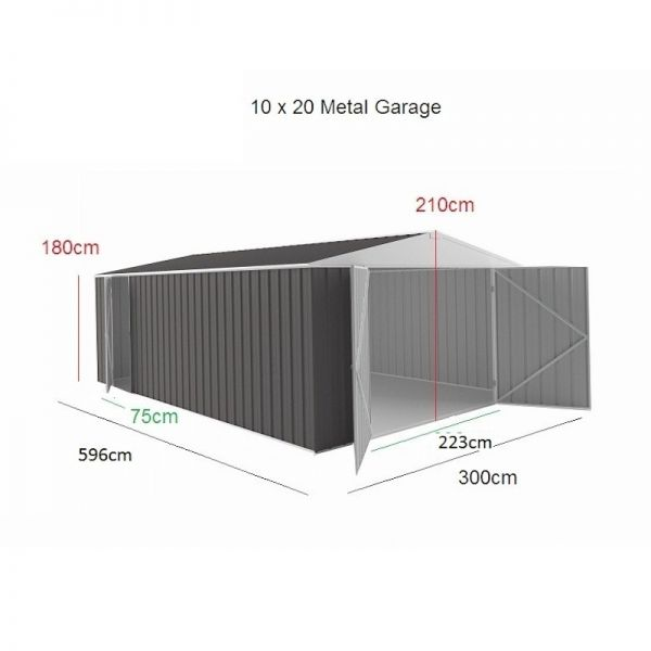 Store More Melbourne Metal Garage 20x10