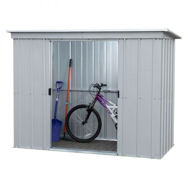Yardmaster 84PZ Pent Metal Shed 8x4 with Floor Support Kit
