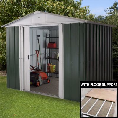 Yardmaster 86GEYZ Metal Shed 6x8 with Floor Support Kit