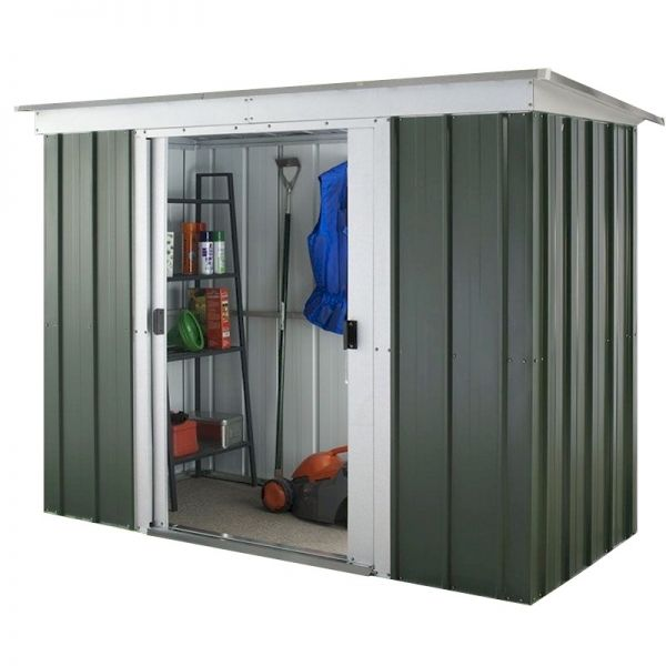 Yardmaster Emerald Pent 64GPZ Metal Shed with Floor Support Frame 1.84 x 1.04m
