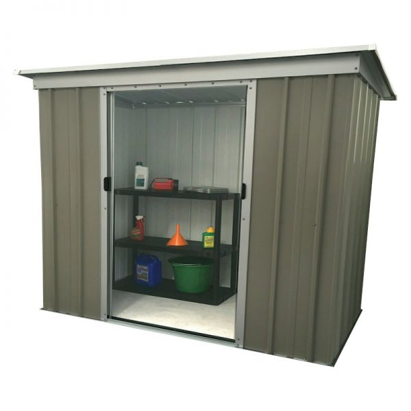 Yardmaster Platinum 64TPZ Pent Metal Shed with Floor Support Frame 1.84 x 1.04m