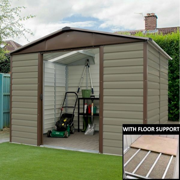 Yardmaster Shiplap 108tbsl Metal Shed 8x10 With Floor
