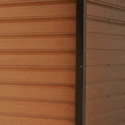 Yardmaster Woodgrain 86WGL Metal Shed 6x8 with Floor Support Kit