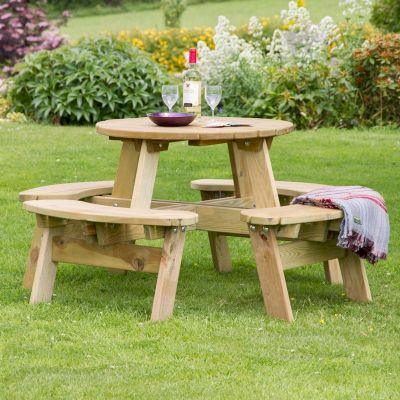 Zest Katie Round Picnic Table - One Garden