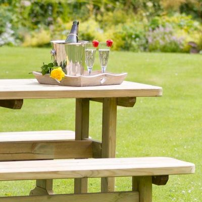 Zest Madison Table and 2 Bench Set