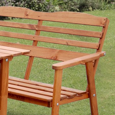 Zest Reston Garden Set Bench and Chairs